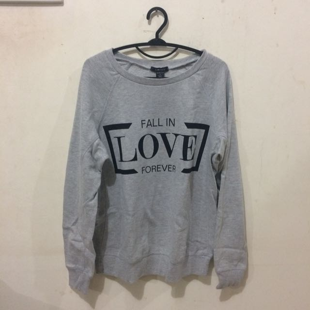 Grey with Text Jumper/Sweater