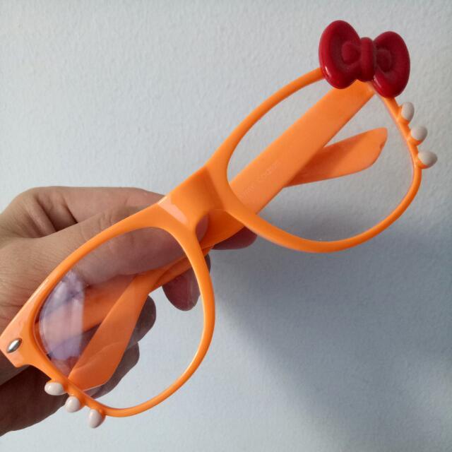 Hello Kitty Orange Kids Sunglasses