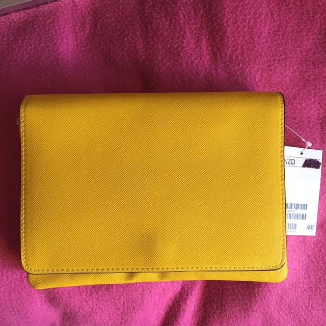 H&M Yellow Small Shoulder Bag
