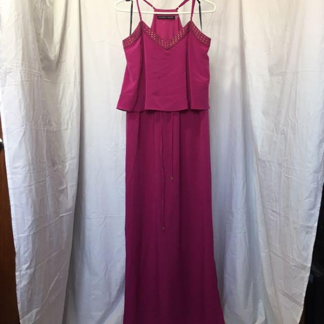 Ivanka Trump Studded Maxi Dress