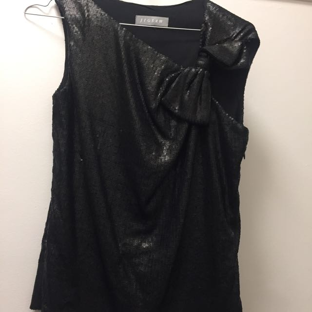 Jig saw Sequin top Size Small