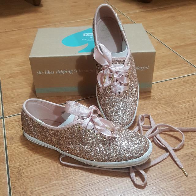 KEDS x Kate Spade New York Champion Glitter ROSEGOLD