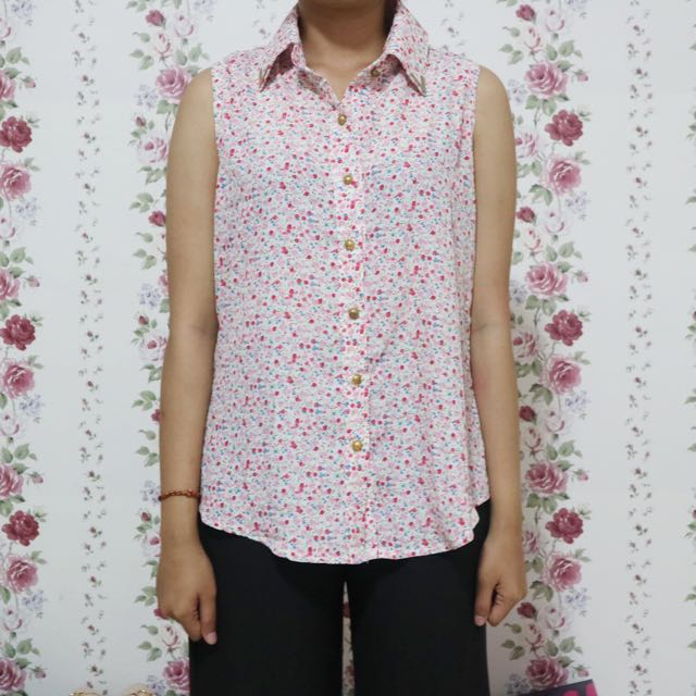 Kemeja Floral All Size