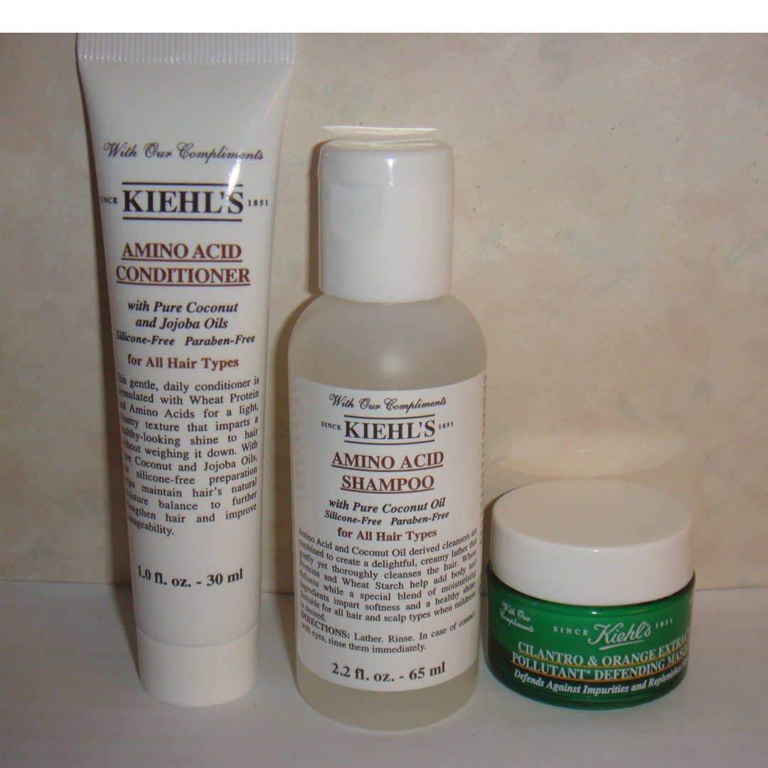 Kiehls Amino Acid Shampoo 65ml Conditioner 30ml Cilantro And Orange Extract Pollutant Defending Masque
