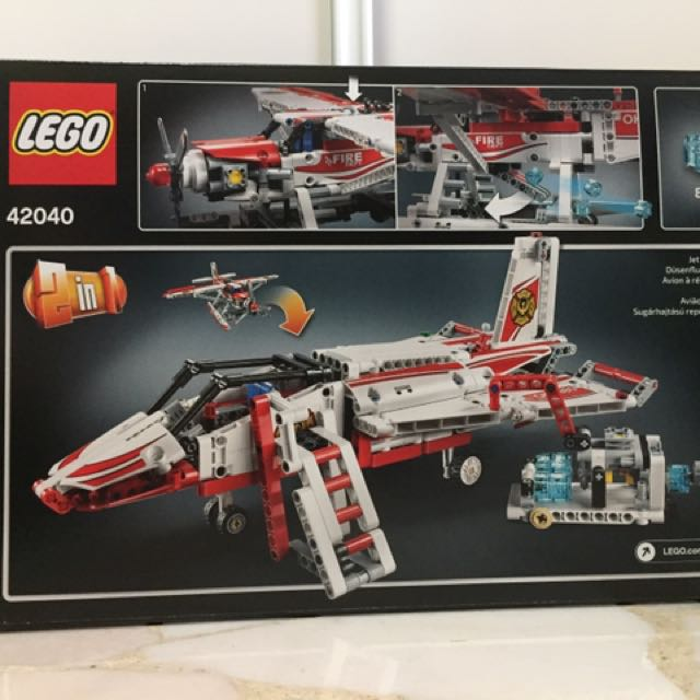 Lego 42040 Technic Fire Plane, Toys & Games, Toys on Carousell
