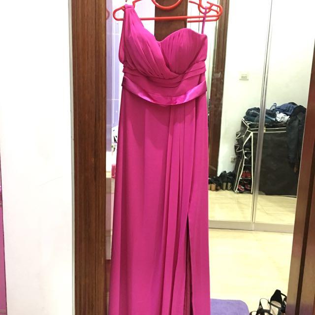 Long Dress Fuschia