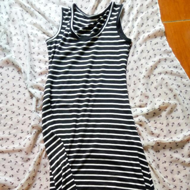 Maxi Dress Black And White