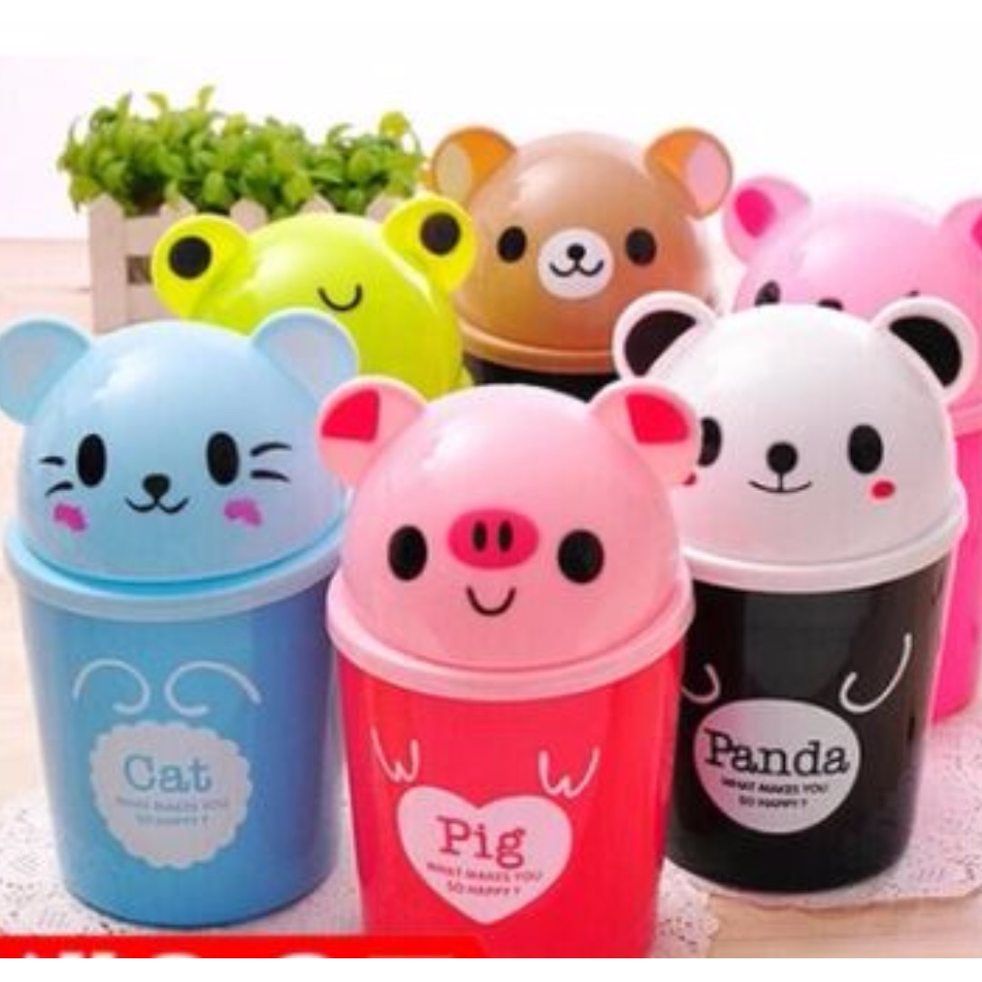 Mini Cartoon Trash Can Toys Games Others On Carousell