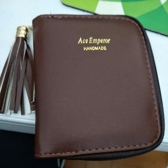 NEW Mini Wallet Purse Brown