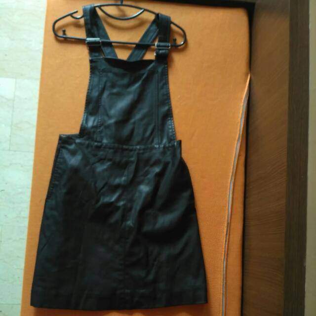 46a8c15c3c Miss Selfridge Leather Cross Back Pinafore