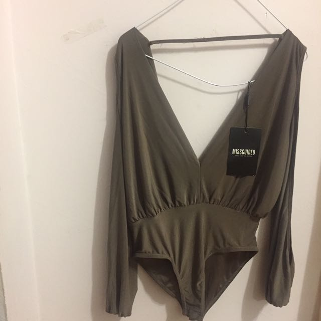 MISSGUIDED OPEN SLEEVE BODYSUIT