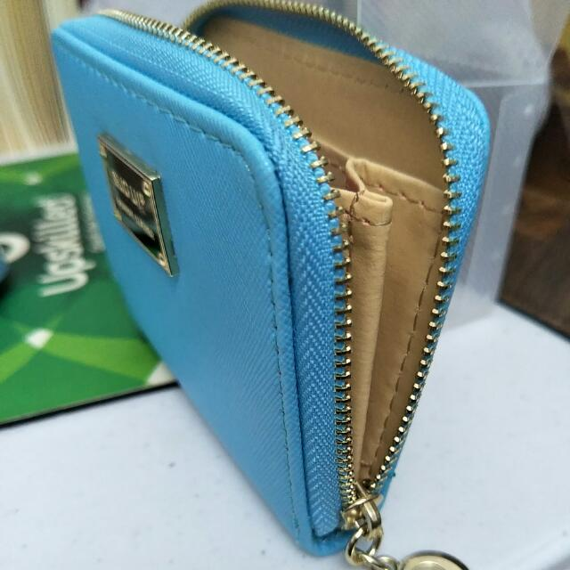 NEW Light Blue Mini Purse Wallet