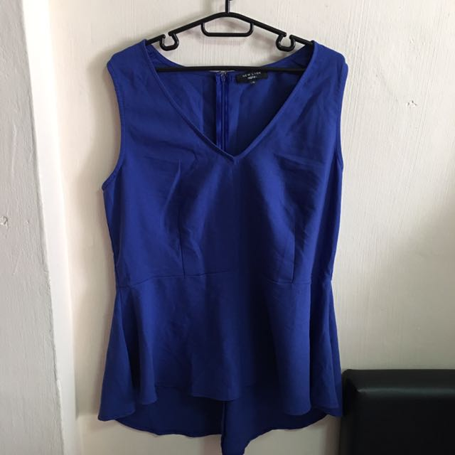 353e938adf New Look Inspire Blue Peplum Top (Plus Size)