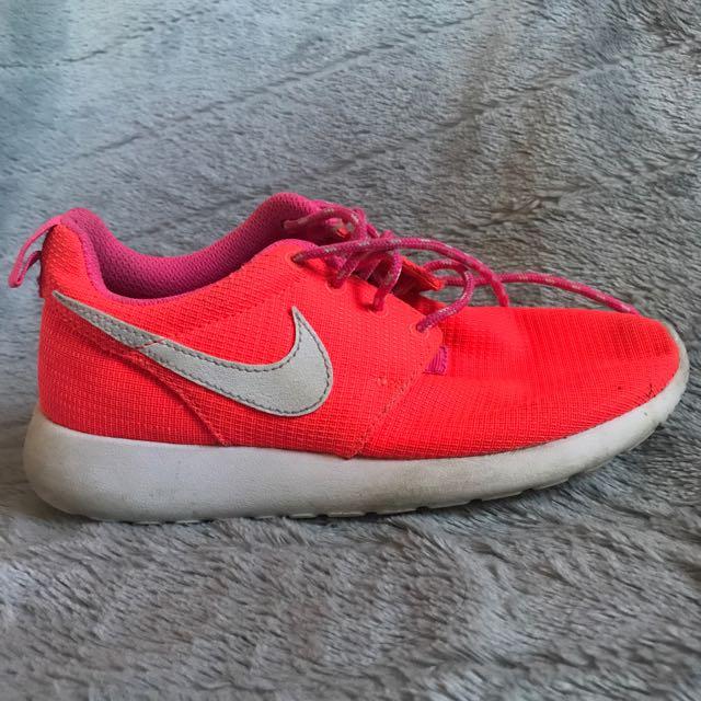 -Nike Roshes Womens Shoes, bright pink/orange-