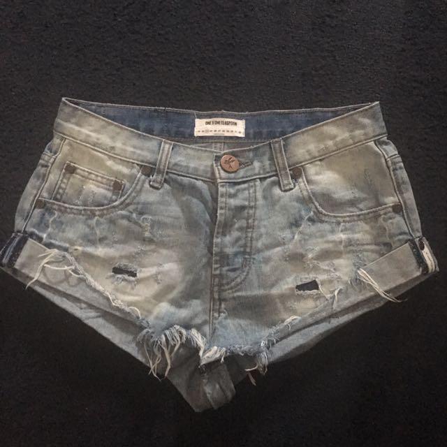 One X One Teaspoon Denim Shorts