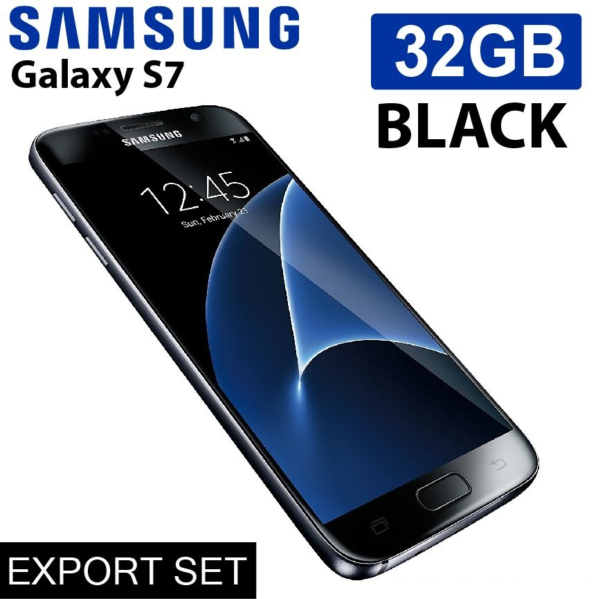 Original Samsung Galaxy S7 , 32GB (Export Set) / Sealed Box with all accessories (Black / Gold)