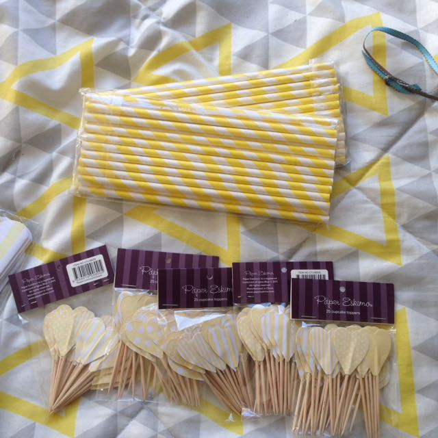 Party Supplies- Yellow
