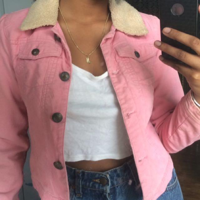 Pink Corduroy Gap Jacket