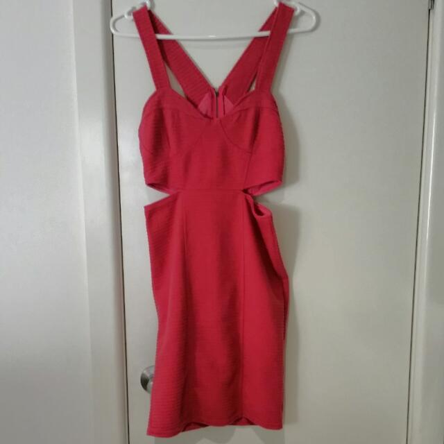 Pink Cut-out Dress