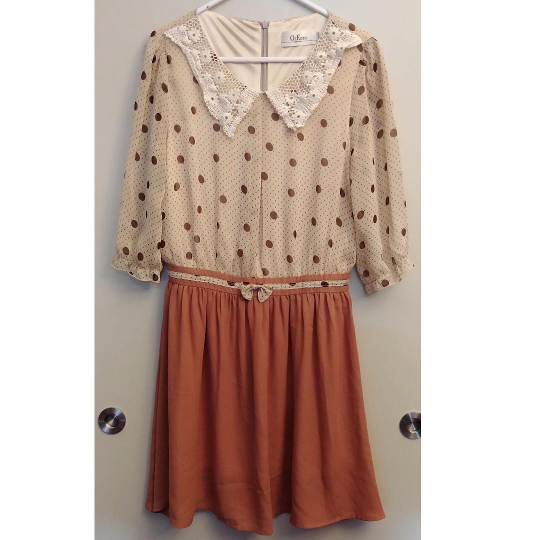 Polkadot Brown Dress