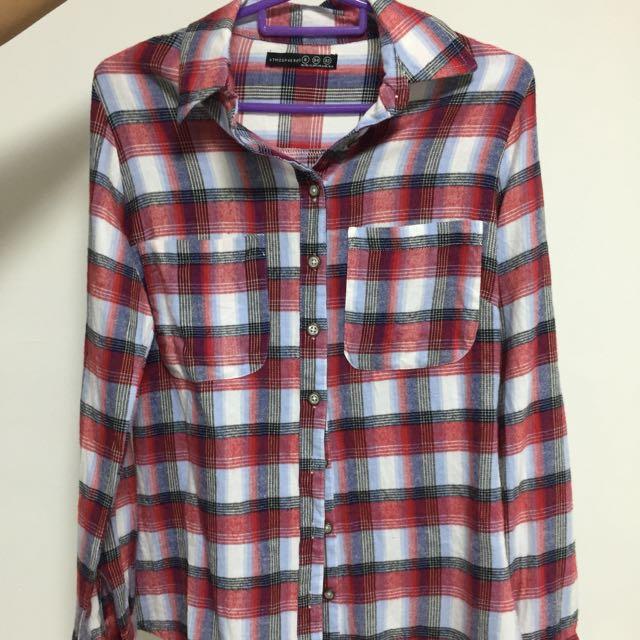 5e62965eaf9a3e Primark Red Checkered Long Sleeve Top, Women's Fashion, Clothes ...