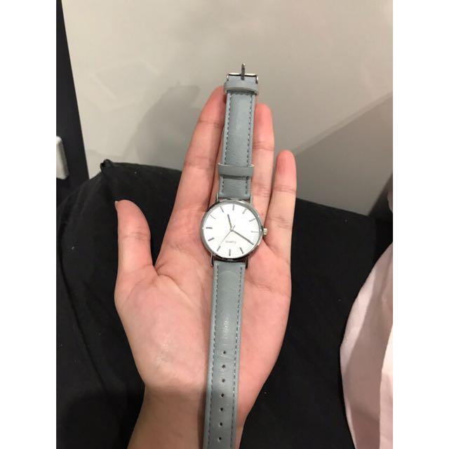 Quartz Watch- Blue With Silver Details