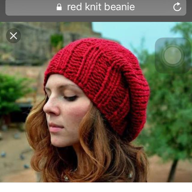 Red Cable Knit Beret Slouchy ef95070628f