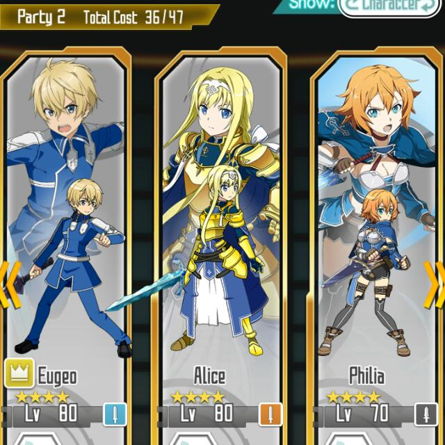 SAO Memory Defrag: Beater Eugeo and Alice, Toys & Games, Video Gaming,  Video Games on Carousell