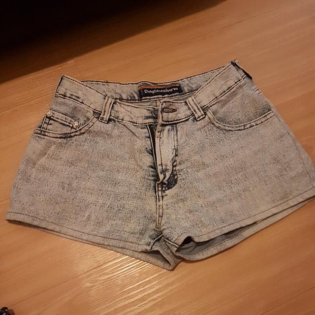 Short Jeans Washed Blue