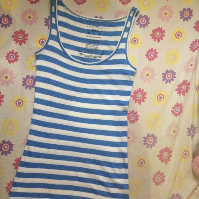 Sleeveless Blue Stripes (Small)