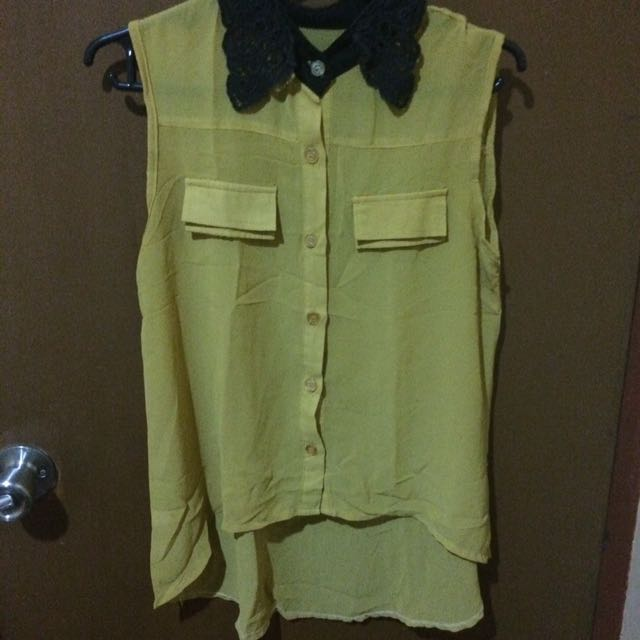 Sleeveless Chiffon blouse (free size)