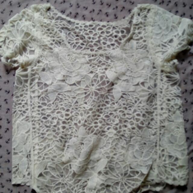 Summer White Lace Top