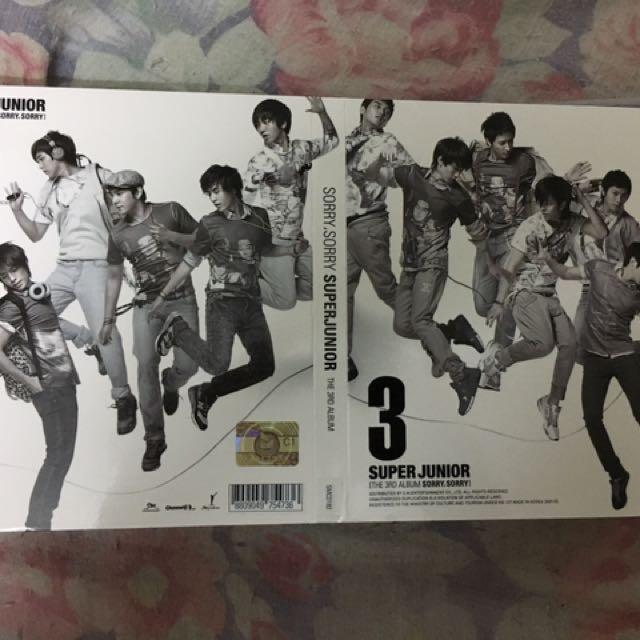 Super Junior 3rd Album (Sorry Sorry)