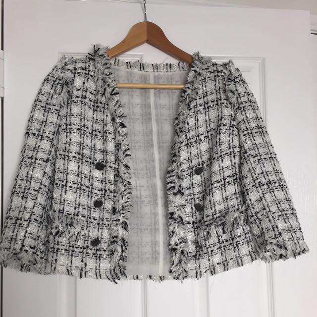 Taget Monochrome Tweed Jacket