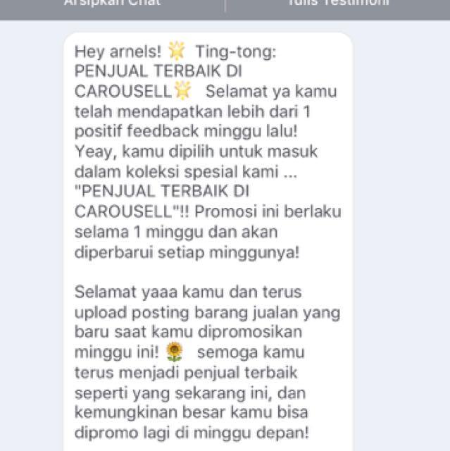 Thanx Carousell 🙏