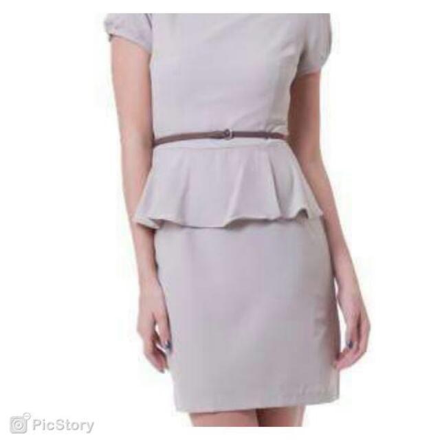 The Executive Peplum Dress