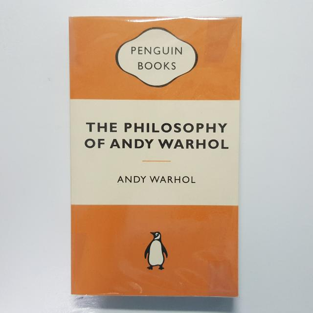 The Philosphy Of Andy Warhol By Andy Warhol