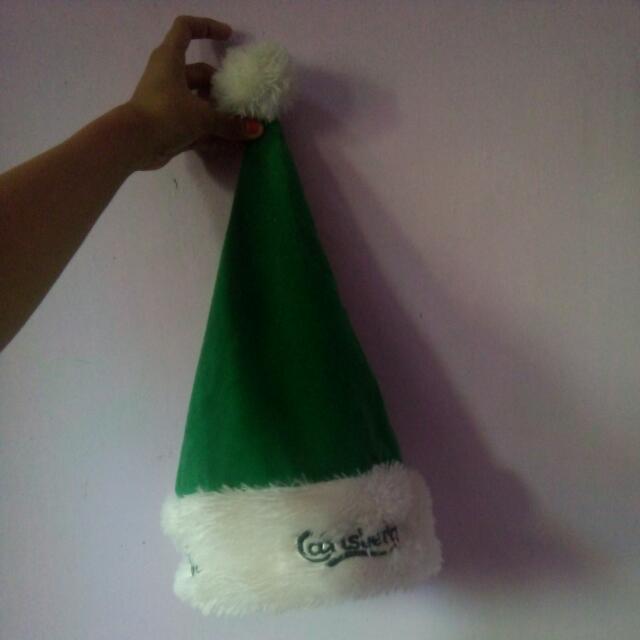 Topi Merry Chrismas  Carlsberg Hijau