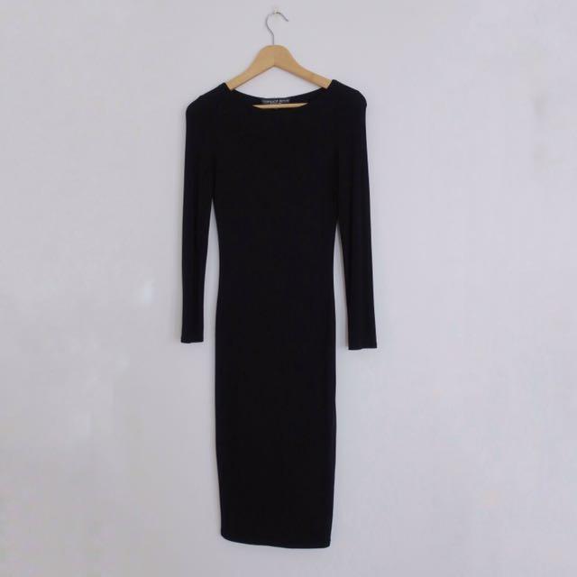 Topshop Bodycon Black Dress