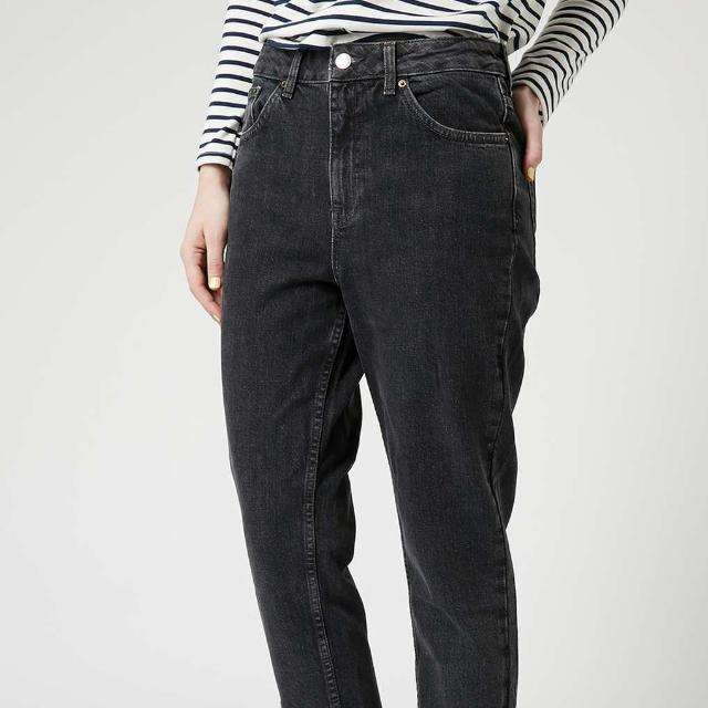 Topshop Highwaisted Moto Black Mom Jeans Women S Fashion Clothes