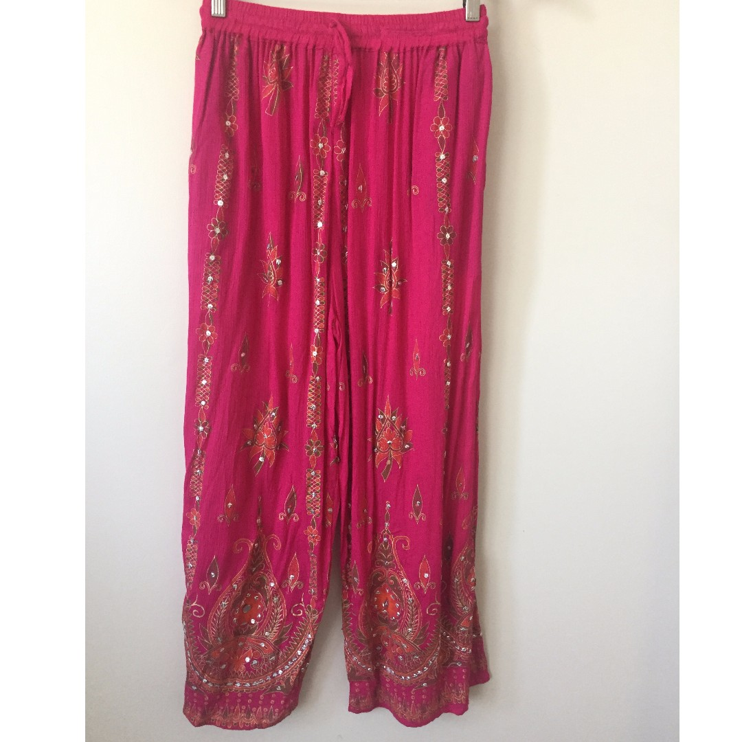 Tree of Life Pink Sequin Pants