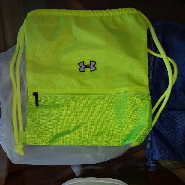 全新 Under Armour 索袋 Stephen Curry 黃色 螢光綠色 運動袋