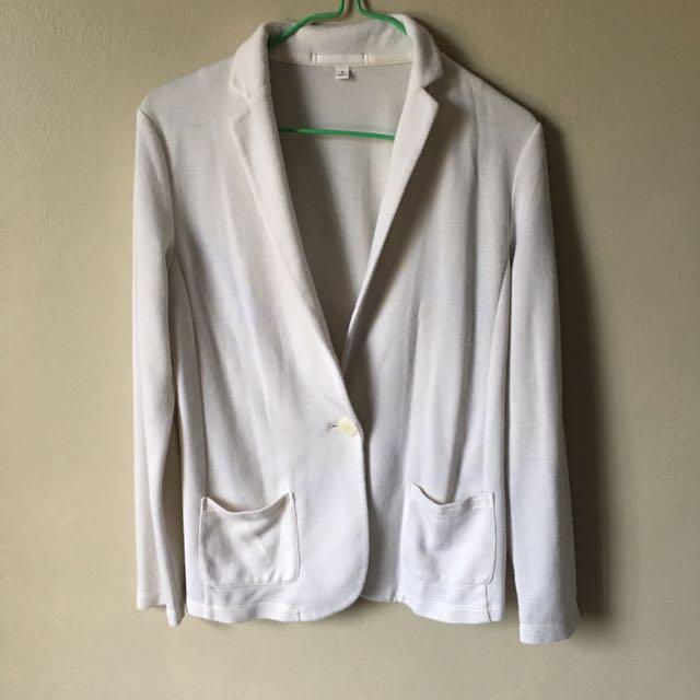 Uniqlo Off White Jersey Blazer