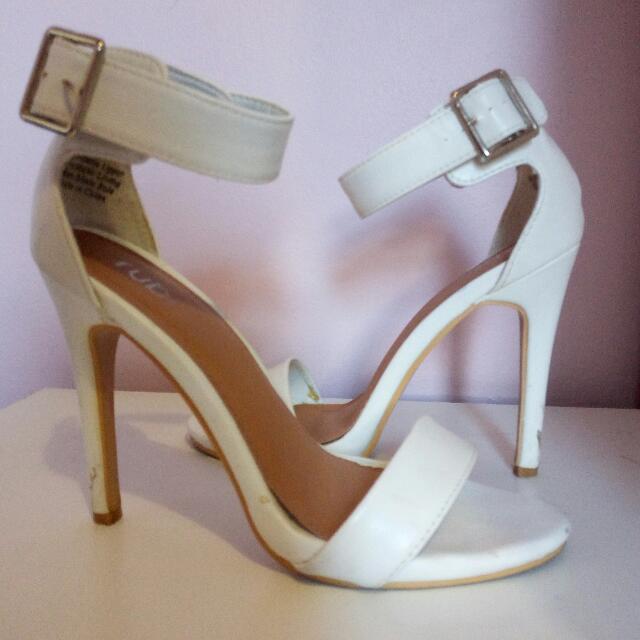 White Strap Heels