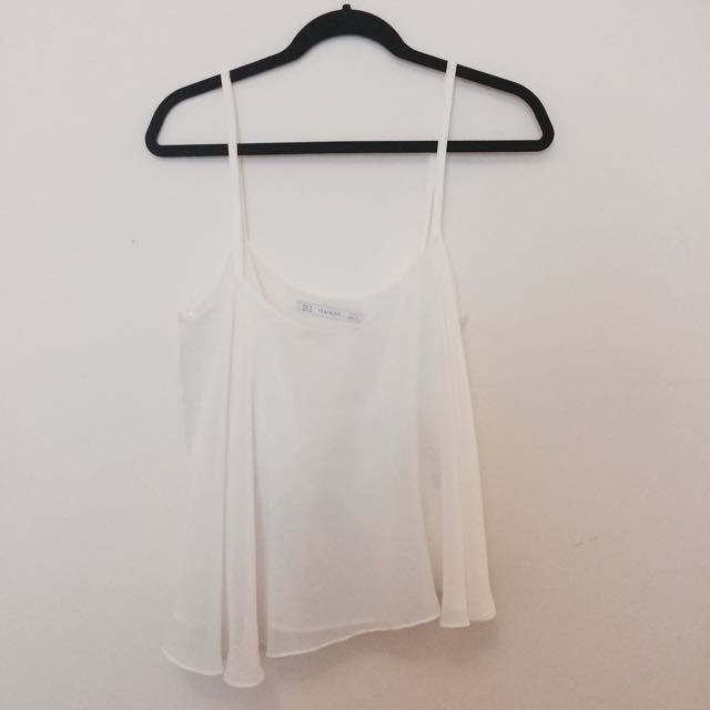 Zara Flowy White Top
