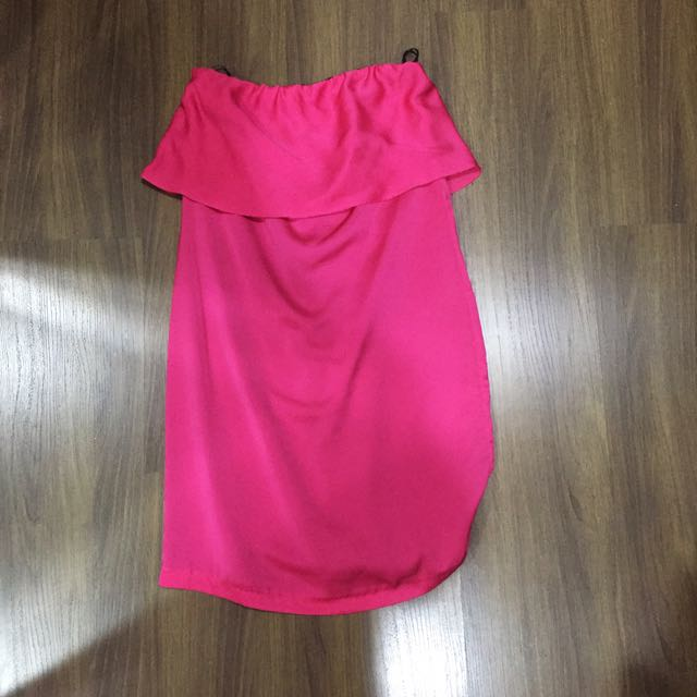 Zara Hot Pink Tube Dress