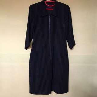 Tailored Black Blazer Dress