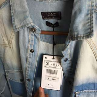 Zara Man Slim fit Light Denim Shirt (small)