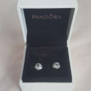 Pandora Sparling Love Knot Earring