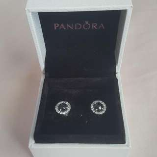 Pandora Glamorous Legacy Stud Earring, Black Spinel